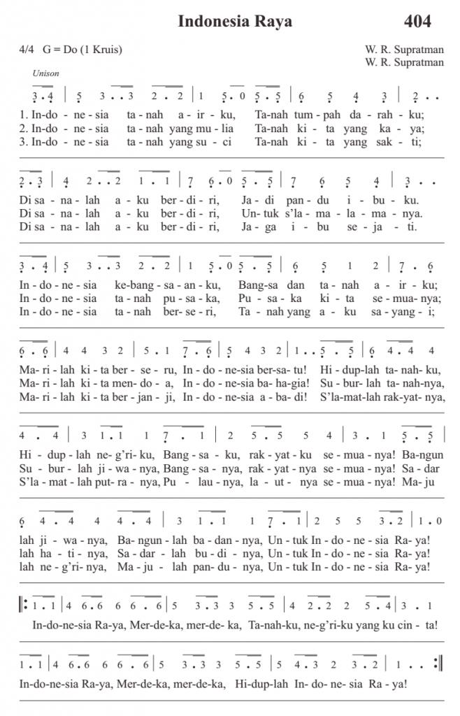 Lagu Indonesia Raya - full 3 stanza - saya.alkitabiah.org